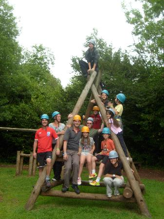 PGL Barton Hall: Our team, after 'Challange Course'
