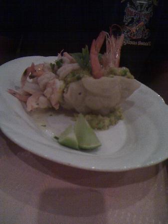 Sociedad Asturiana Castropol: Guacamole & Shrimp