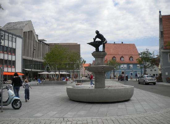 Memmingen, Germany: Schrannenplatz square