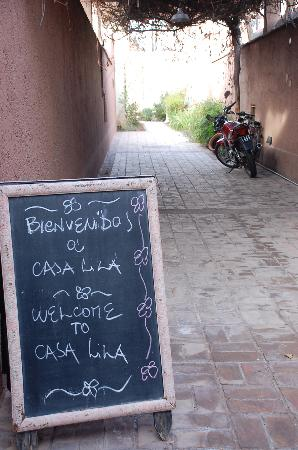 Casa Lila: The welcoming blackboard