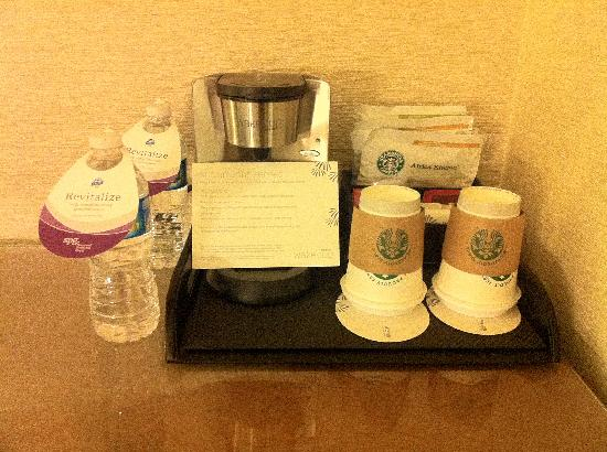 The Westin Austin at The Domain: Free water and coffee