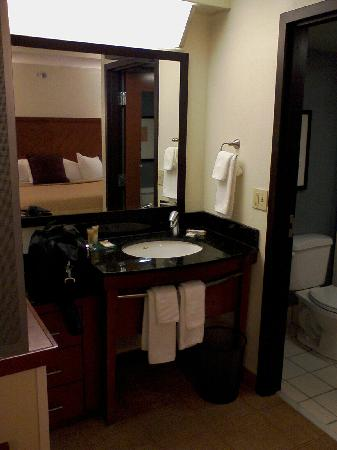 Hyatt Place Columbia: Spotless vanity and bathroom.