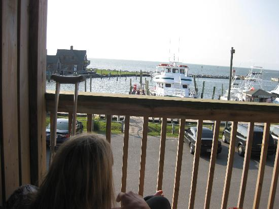 The Breakwater Inn: view from the balcony