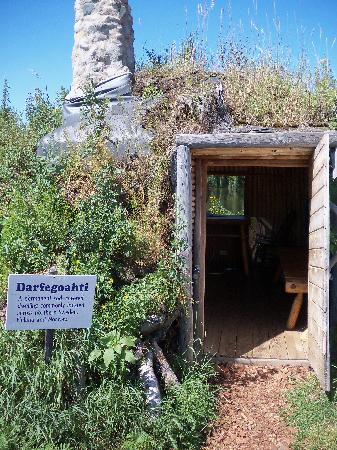 A sod house at the Minnesota Discovery Center.