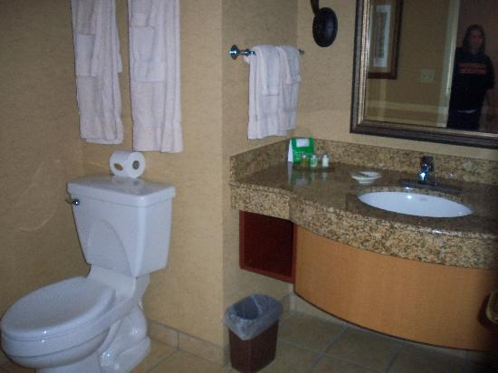 Mystic Lake Casino Hotel: Our bathroom.