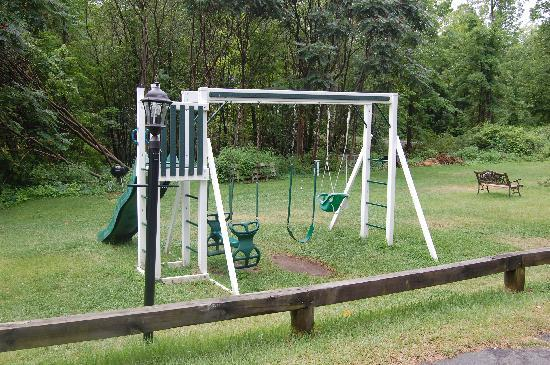 The Villas On Lake George: swing set near the beach area