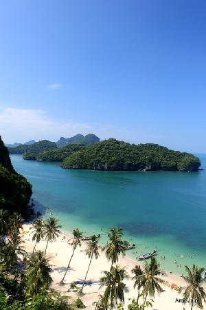 Ang Thong, Thailand: View from hill at Ko Wua Talab (150 m)