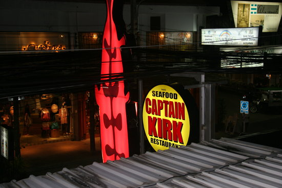 Captain Kirk: View of the neon signs