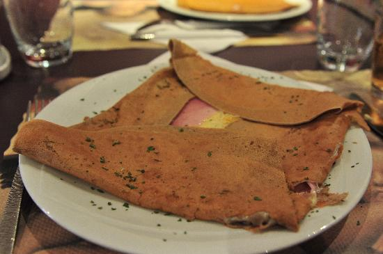Creperie Au Crepange : Savory ~ Ham, Cheese and Eggs