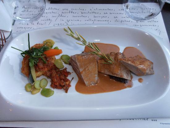 Auberge Cote Jardin: Lekkere en verzorgde maaltijden.