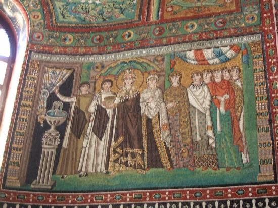 Basilica San Vitale: テオドラ皇妃モザイク