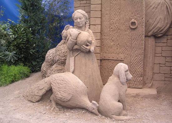 Sand Nativity : La pastorella