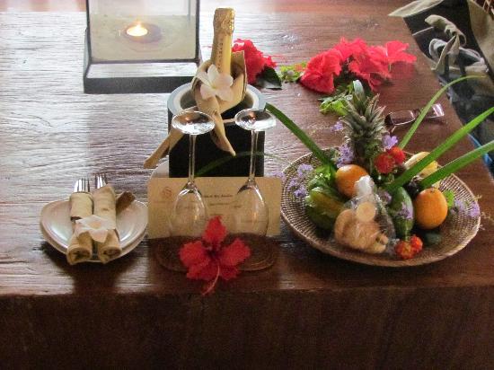 Le Domaine de L'Orangeraie Resort and Spa: Honeymoon welcoming