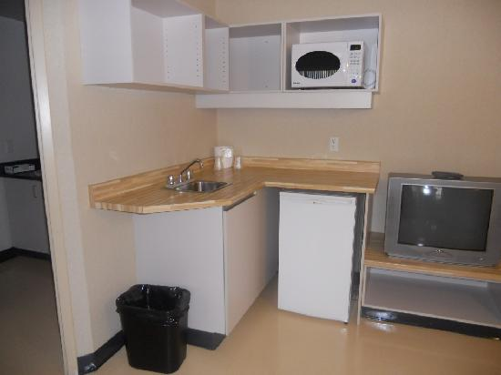 Durham College Simcoe Village Residence: Kitchenette in the sitting area.