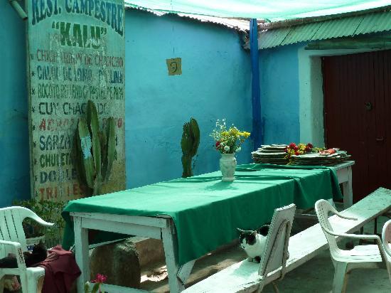 Chiguata, Перу: Nuestro restaurante