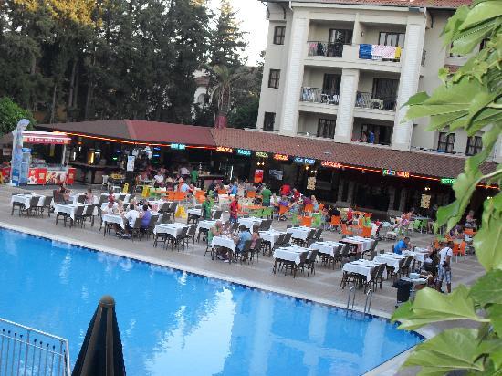 Club Alize: pool view from balcony1