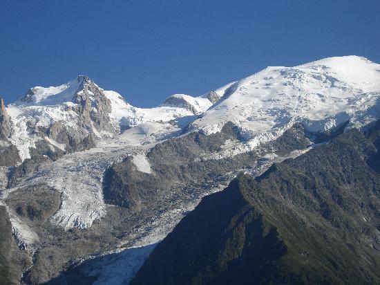 Hotel restaurant LES GRANITS: Vue sur le Mont Blanc