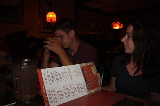Deluca's: looking at the menu