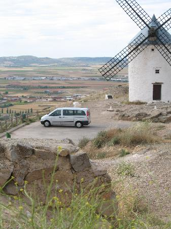 agricultural area surrounds the Consuegra windmills