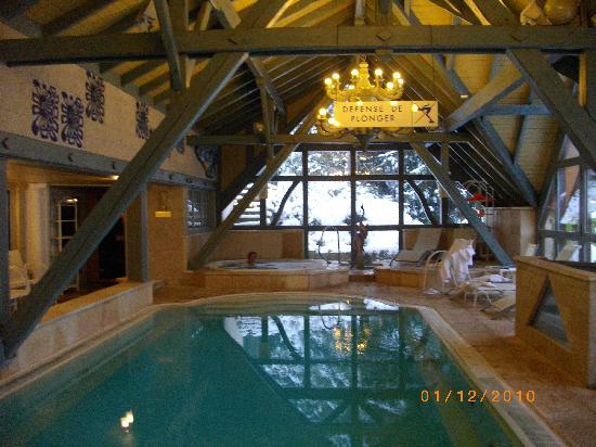 Hostellerie La Cheneaudiere - Relais & Chateaux: piscine et bain à remous