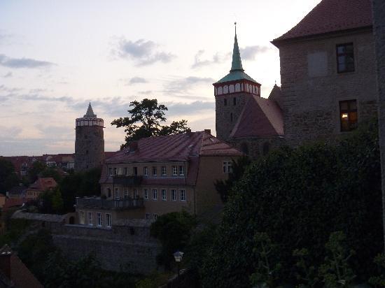 """Schloss Schänke Hotel: der Blick von der Terrasse des """"Alten Bierhof"""""""