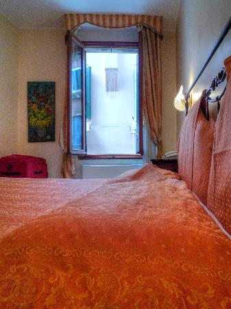 La Locandiera: Our bed and the open window