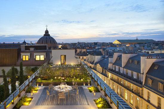 terrace picture of mandarin oriental paris paris tripadvisor. Black Bedroom Furniture Sets. Home Design Ideas