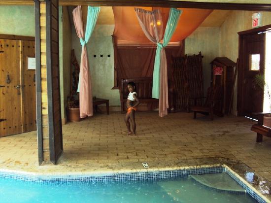 Hacienda El Jibarito: piscina interior