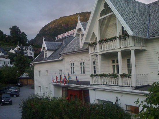 Sogndal Municipality, Norway: The facade facing the town.