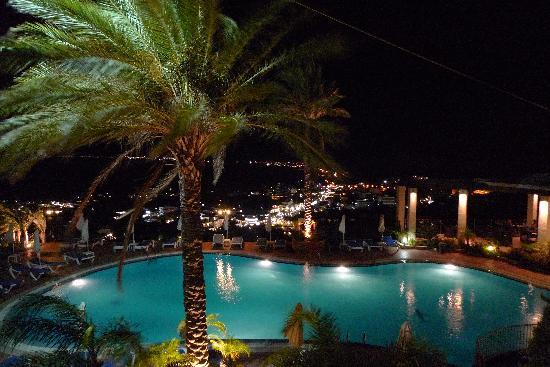Pefkos Blue: Pool at night