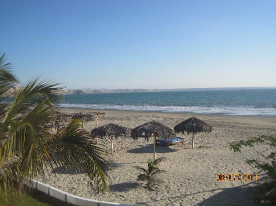 Colán, Perú: Vista desde la habitacion a la playa