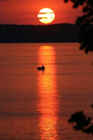 Woodland Resort on Lake Miltona: Another amazing Lake Miltona Sunset from Woodland Resort