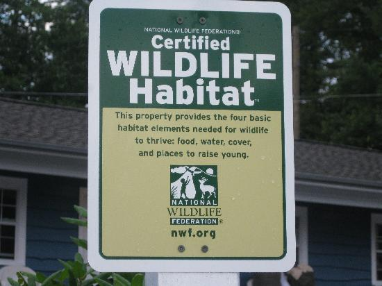 Blowing Rock Inn and Villas: We are a Certified Wildlife Habitat