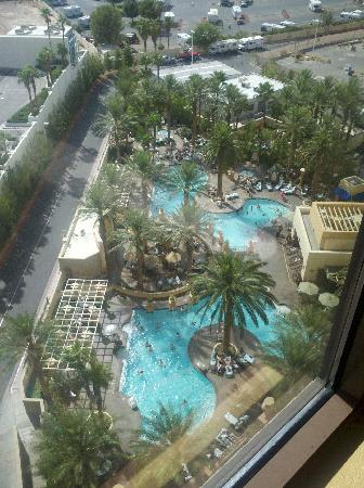 View of pool from our room.
