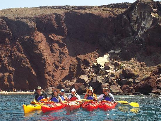 Santorini Sea Kayak - Day Tours : Red Beach