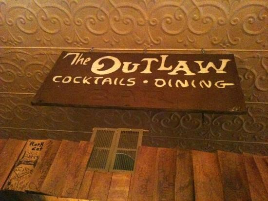 Outlaw Restaurant: original sign