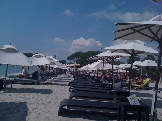Restaurant Playa Baggia : les transats