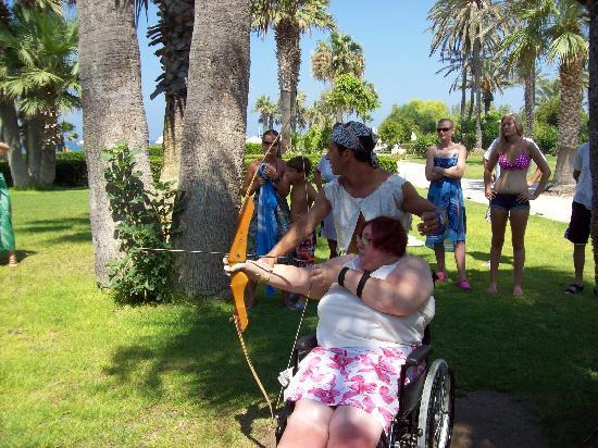 Louis Imperial Beach : my partner having a go at archery