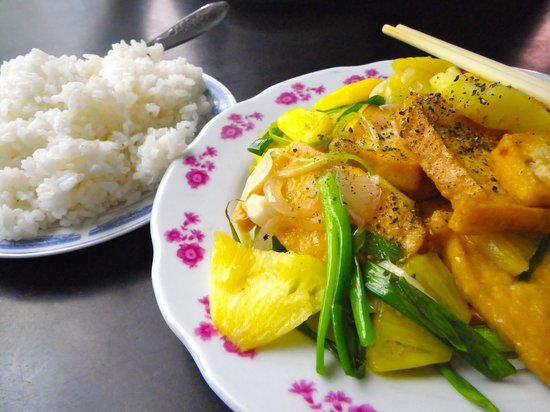 Family Home Restaurant: Fried Tofu with Pineapple