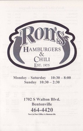 Ron's Hamburger and Chili