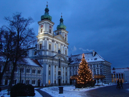 Waldsassen Basilica at Christmas