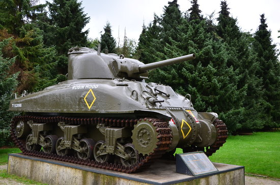 Groesbeek, The Netherlands: Sherman tank outside