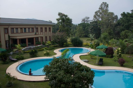 Gisenyi, Rwanda: View of the pool