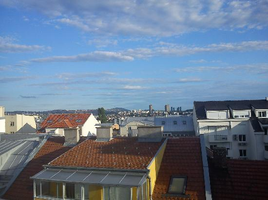 Belcity Hostel : The view from our balcony
