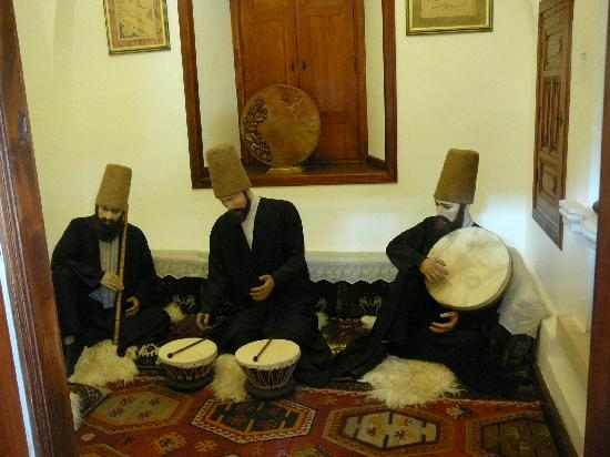 Konya, Turkey: Figures Representing Rumi's followers, the Dervishes