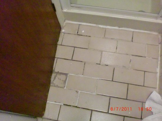 The Royal Alexandra Hotel: Loose tiles