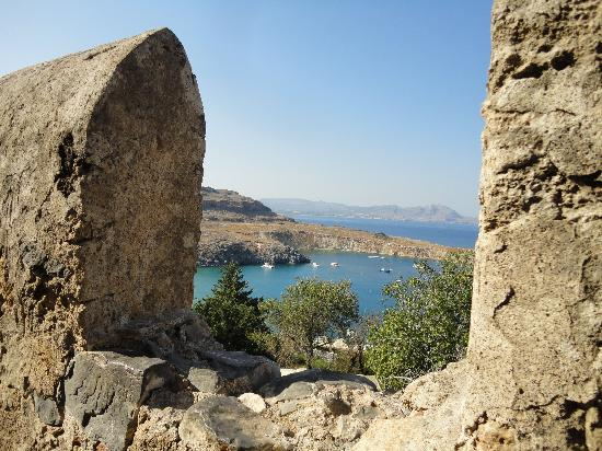 Ancient Kamiros: View from the Acropolis wall
