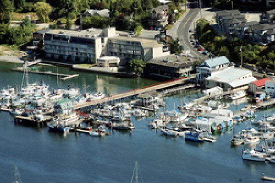 Oceanfront Suites at Cowichan Bay : An aerial view of Cowichan Bay