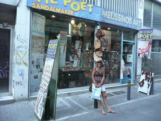 Melissinos Art -The Poet Sandal Maker: super j'ai mes spartiates comme cleopatre