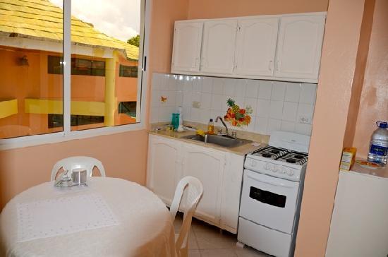 Aparta Hotel Madejra : kitchen